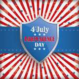 4th July retro Banner Protection Shield Stock Photos
