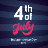 4th of July retro poster template. USA Independence day banner, greeting card, brochure design. Vector illustration Royalty Free Stock Image