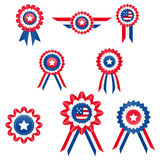 4th Of July Retro Rib Ribbon. Here I present the collection of American Star Ribbon, Its great if you want to create a design for the 4th of July event Stock Photography