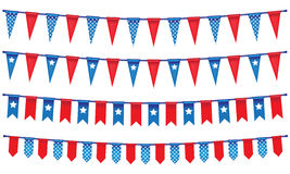 4th Of July Rope Banner. Great to use as a decoration on your design Stock Image