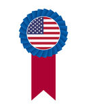 4th of July rosette. Isolated on white background Royalty Free Stock Photo