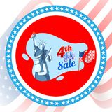 4th of July, Sale Banner Design. 4th of July, Sale Banner Design with Statue of Liberty Royalty Free Stock Image