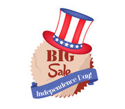 4th of July Sale banner. Independence Day Stock Photography