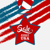 4th of july sale, celebrate independence day. American Independence Day background Royalty Free Illustration