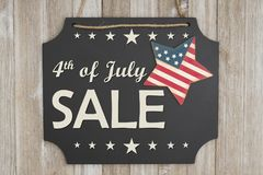 The 4th of July Sale Independence Day message Stock Photo