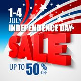 4th of july sale vector background Stock Photos