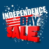 4th of july sale vector background Royalty Free Stock Photo
