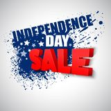 4th of july sale vector background Royalty Free Stock Images