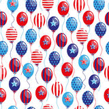 4th of July seamless pattern with balloons. EPS royalty free illustration