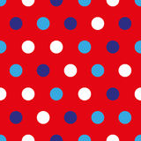 4th of July seamless pattern with colorful circles Royalty Free Stock Images