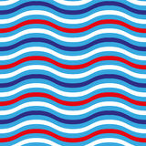4th of July seamless pattern with colorful waves. EPS vector illustration