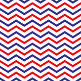 4th of July seamless pattern with colorful zig-zags. EPS vector illustration
