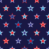 4th of July seamless pattern with stars. EPS royalty free illustration
