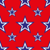 4th of July seamless pattern with stars. EPS Stock Photos