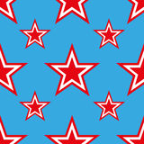 4th of July seamless pattern with stars. EPS Royalty Free Stock Image