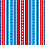 4th of July seamless pattern with stars and stripes. EPS Royalty Free Stock Photography