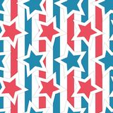 Little stars and stripes seamless vector pattern for the fourth of July. This 4th of July seamless vector pattern is ideal to celebrate the USA Independence Day stock illustration