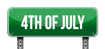 4th of July sign concept illustration design. Isolated over white Stock Photos