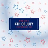 4th of july silver background. Vector Royalty Free Stock Images