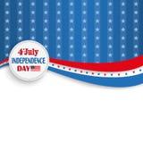 4th July Silver Star Stripes Emblem Stock Photography