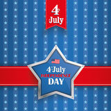 4th July Silver Star Stripes Royalty Free Stock Photography