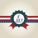 4th July stamp Stock Photos