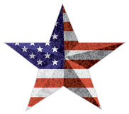 4th Of July Star Outline With USA Flag Texture Illustration Stock