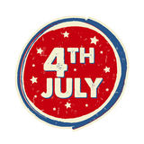4th of July with stars in circle banner - USA American Independe Stock Photography