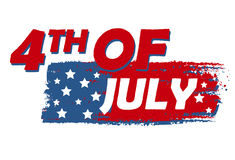4th of July with stars over drawing flag - USA American Independence Stock Photography