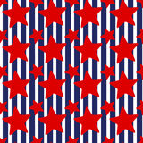 4th July stars stripes seamless background Stock Image