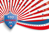 4th July Stars Stripes Flyer Silver Shield Royalty Free Stock Photo