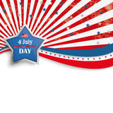 4th July Stars Stripes Flyer Silver Star Stock Image