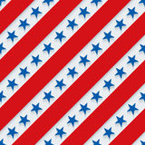 4th July. Stars and stripes wallpaper. 3d seamless background. Vector EPS10 royalty free illustration
