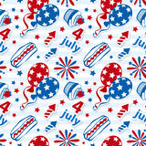4th july stickers seamless background Stock Photography