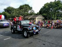 4th of July street parade Royalty Free Stock Photo