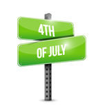 4th of July street sign concept illustration. Design isolated over white Stock Image