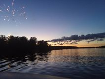 4th or July sunset stock image