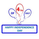 4 th of july symbol isolated on white background. Vector illustration vector illustration