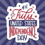4th of July. USA independence day. Vector elements for invitations, posters, greeting cards. T-shirt design Stock Photography