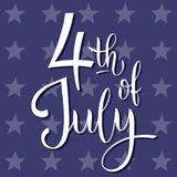 4th of July. USA independence day. Vector elements for invitations, posters, greeting cards. T-shirt design royalty free illustration