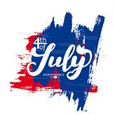 4th of July. The trend calligraphy. Excellent gift card to the day of Independence. Vector illustration vector illustration