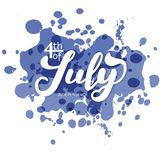 4th of July. The trend calligraphy. Excellent gift card to the day of Independence. Vector illustration stock illustration