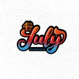 4th of July. The trend calligraphy. Excellent gift card to the day of Independence. Vector illustration royalty free illustration