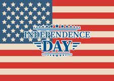 4th of July, United Stated independence day greeting. Fourth of July typographic design. Usable as greeting card, banner, backgrou. Nd Royalty Free Stock Image