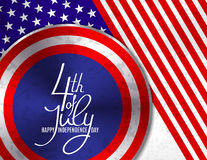 4th of July, United Stated independence day greeting. Fourth of July typographic design. Usable as greeting card, banner. Background royalty free illustration