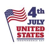 4th July United States Independence Day Emblem, Logo Set. 4th July United States Independence Day Emblem, Insignia, Logo Set Royalty Free Illustration