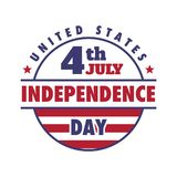 4th July United States Independence Day Emblem, Logo Set. 4th July United States Independence Day Emblem, Insignia, Logo Set Vector Illustration