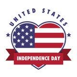 4th July United States Independence Day Emblem, Logo Set. 4th July United States Independence Day Emblem, Insignia, Logo Set Stock Illustration