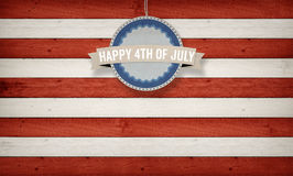 4th of July, US American flag concept background. 4th of July text with US American flag concept background Stock Images