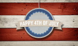 4th of July, US American flag concept background. 4th of July text with US American flag concept background Stock Photo